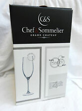 Champagne Flutes - Chef and Sommelier Grand Chateau - Box of Four - BNIB