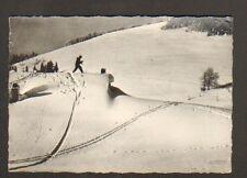 """SAINT-MAURICE (88) SKIEUR à la FERME-RESTAURANT du ROUGE-GAZON """"J LUTTENBACHER"""""""