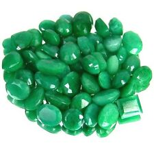 EXCLUSIVE LOT NATURAL EMERALD FINEST 225+CT/49PCS RING SIZE GEMS 7-13mm GEM EDH