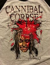CANNIBAL CORPSE cd lgo HIGH VELOCITY IMPACT SPATTER Official RAGLAN SHIRT XL new