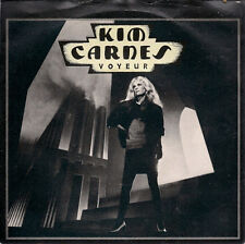 """Kim Carnes Voyeur UK 45 7"""" single +Picture Sleeve +Thrill Of The Grill"""