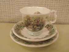 ROYAL DOULTON BRAMBLY HEDGE MINIATURE TRIO CUP, SAUCER & SIDE PLATE - SUMMER