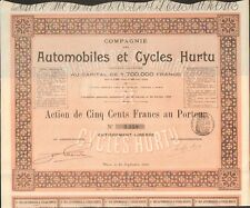 RARE =  Automobiles & Cycles HURTU 1900 (F)