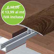 Profilo Di Raccordo Rovere Scuro Asta Da 270 Cm per Pavimenti Laminati