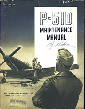 REPRINT WWII P-51D MAINTENANCE MANUAL NA-5865 P51 1944 NORTH AMERICAN AIRCRAFT
