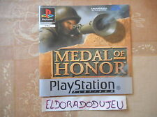 ELDORADODUJEU   NOTICE MEDAL OF HONOR Pour PLAYSTATION PS1