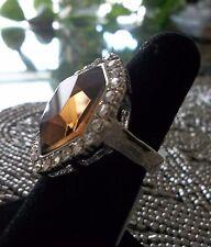Park Lane Special AWARD RING - Topaz CZ & Swarovski -  Size 8 - Stunning!