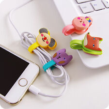 Cute Headphone Earphone Earbud Silicone Cable Cord Wrap Winder Organizer Holder