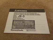 USED: MITSUBISHI CASSETTE TAPE PLAYER - MODEL JX-3 INSTRUCTION BOOK - HATTERAS
