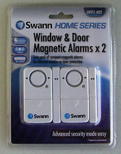 TWO (2) NEW SWANN SW351-MDA Complete Stand-Alone, Window & Door Magnetic Alarms