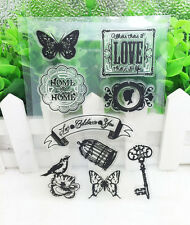 Butterfly Silicone Clear Stamp Seal DIY Diary Scrapbooking Album Note Craft