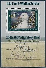 #RW73b $15 DUCK STAMP SIGNED BY ARTIST AND ENGRAVER CV $180 BT1075