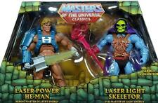 MOTU Masters Universe Classics Laser Light Skeletor vs. Power He-Man SOLD OUT !!