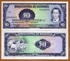 Nicaragua, 50 cordobas, L. 1978, Pick 130, D-Serie, UNC   Low S/Ns