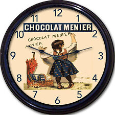 Chocolat Menier Poster Wall Clock Chocolate Paris France Country French Kitchen
