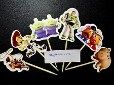 12 X Toy Story Cake Picks,Cupcake Toppers Kids Birthday Decoration Buzz,woody 45