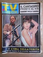 TV Sorrisi e Canzoni n°25 1966 Gino Paoli Stefania Sandrelli Bongiorno [G584]