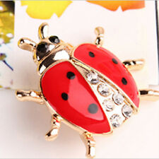 Girl's Fashion Animal Brooches Rhinestone Lady bug Brooch For Women Nice Jewelry