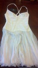VERSACE White COUTURE Sheer Lace SILK Dress Gown Club Formal Euro 42 Small