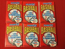Lot Of 6 UNOPENED 1991 FLEER'91 BASEBALL LOGO STICKERS & TRADING CARD PACKAGE