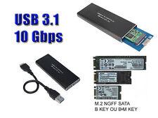 """Boitier Aluminium USB 3.1 M2 - 10G Pour SSD M.2 NGFF Type """"SATA"""" uniquement"""