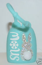 NEW STYLE BATH BODY WORKS TEAL SNOW BUNNY POCKETBAC HOLDER SLEEVE SANITIZER CASE
