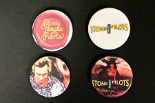 """RARE SET OF (4) LARGE «STONE TEMPLE PILOTS (SCOTT WEILAND)» PIN BACK BUTTONS 2¼"""""""