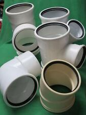 "5pc SDR35 6"" TEE WYE 90° ELBOW GASKETED PVC FITTING SEWER STORM DRAIN PIPE 6x6x4"