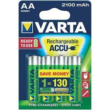 4 x VARTA AA Ni-MH 2100 mAh Ready2Use Rechargeable batteries R6 LR6 HR6
