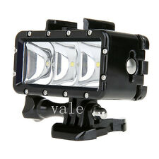 Waterproof Diving LED Shooting Flash Light Lamp W/ Base Adapter For Gopro Sj400