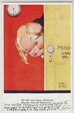 POSTCARD - Mabel Lucie Attwell, German edition, working girl winking #2574