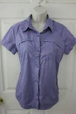 Womens Columbia Omni-Shade Sun Protection Button Front Shirt Short Sleeve sz L
