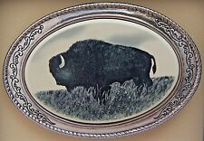 Belt Buckle Barlow Buffalo Bison Western Silver Photo Reproduction Art 592621 n