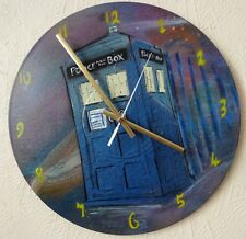 Doctor Who.inspired record wall clock..Dalek..POLICE BOX..Time Lord