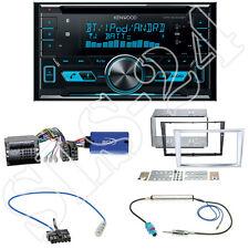 Kenwood 2-DIN Bluetooth Radio+Opel Astra Corsa D Blende chrom+Lenkradadapter Set