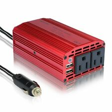 BESTEK 300W Dual 110V AC Outlets Power Inverter DC 12V to 110V AC MRI3011BU NEW