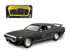 1971 PLYMOUTH GTX MATT BLACK 1/43 DIECAST CAR MODEL BY ROAD SIGNATURE 94218