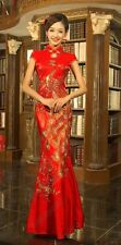 Chinese wedding dress QiPao Kua Kwa cheongsam 44 Custom Make Avail