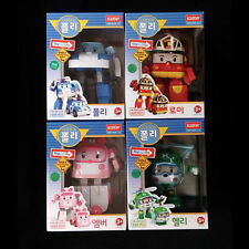 RoboCar POLI ROY AMBER HELLY Transforming Figures Robots 4pcs set Korean Academy