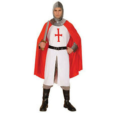 ADULT MENS ST GEORGES ENGLAND MEDIEVAL KNIGHT CRUSADER FANCY DRESS COSTUME