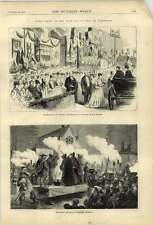 1874 Torchlight Procession Masquers Ashford Royal Reception