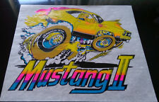 Vintage Rare  Mustang II  Iron-On Transfer by Roach Classic  DAY GLO
