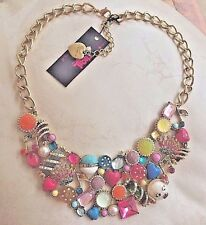 NEW Betsey Johnson xox Trolls Charms Bib Necklace