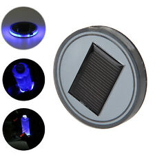 Auto Decor Solar Blue LED Light Cup Mat For Marine Boat Car Truck Camper