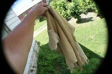 Whitetail deer skin hair-off natural color tanned buckskin 10.3 sq ft nice~ ppd.