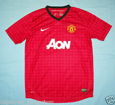 Manchester United / 2012-2013 Home - NIKE - JUNIOR Shirt / Jersey. 13-15 158-170