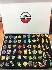Pocket Monster Pokemon: Kanto Gym Badges Set of 58 Metal Pins+box Pokemon Go Fan