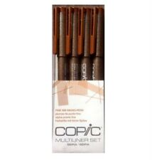 Copic Multiliner Pen Set of 4 - Sepia Collection with Fine Nib ~ KNOCKOUT CRAFTS