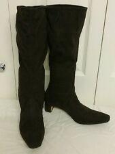 Lk bennett stunning & supple brown suedette pull on boots size 4