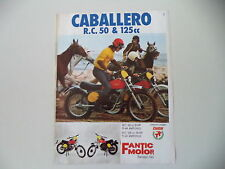advertising Pubblicità 1975 MOTO FANTIC CABALLERO RC 50 e RC 125